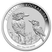 Australia 10 Dollars Kookaburras 2017 AUSTRALIAN KOOKABURRA 2017 10 OZ 999 SILVER P NM coin reverse