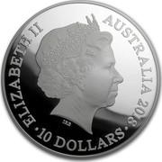 Australia 10 Dollars Lunar Dog 2018 ELIZABETH II AUSTRALIA 2018 10 DOLLARS IRB coin obverse