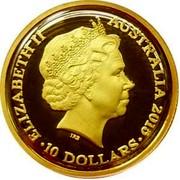Australia 10 Dollars Lunar Year of the Goat 2015 ELIZABETH II AUSTRALIA 2015 10 DOLLARS IRB coin obverse