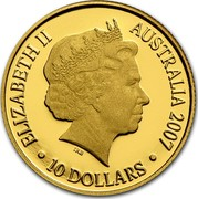 Australia 10 Dollars Lunar Year of the Pig 2007 KM# 809b ELIZABETH II AUSTRALIA 2007 10 DOLLARS IRB coin obverse