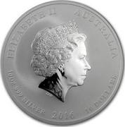 Australia 10 Dollars Monkey King 2016 ELIZABETH II AUSTRALIA 10 OZ 999 SILVER 2016 10 DOLLARS IRB coin obverse