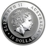 Australia 10 Dollars Perched Kookaburra 2011 ELIZABETH II AUSTRALIA 10 DOLLARS IRB coin obverse