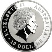 Australia 10 Dollars The Kookaburra 2014 KM# 2118 ELIZABETH II AUSTRALIA 10 DOLLARS IRB coin obverse