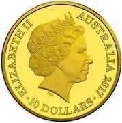 Australia 10 Dollars Trans-Australian Railway 2017 ELIZABETH II AUSTRALIA 2017 IRB ∙ 10 DOLLARS ∙ coin obverse