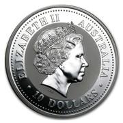Australia 10 Dollars Two Kookaburras 1999 ELIZABETH II AUSTRALIA 10 DOLLARS IRB coin obverse