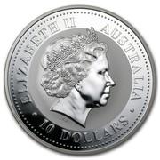 Australia 10 Dollars Year of the Dog 2006 ELIZABETH II AUSTRALIA 10 DOLLARS IRB coin obverse