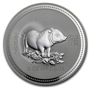 Australia 10 Dollars Year of the Pig 2007 2007 10 OZ 999 SILVER coin reverse