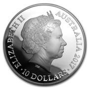 Australia 10 Dollars Year of the Rooster 2017 ELIZABETH II AUSTRALIA 2017 10 DOLLARS IRB coin obverse