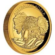 Australia 100 Dollars A Close-Up Portrait of a Koala 2014 AUSTRALIA KOALA 2014 1 OZ 9999 GOLD P MG coin reverse