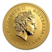 Australia 100 Dollars Australian Hopping Kangaroos 2004 ELIZABETH II AUSTRALIA 100 DOLLARS IRB coin obverse