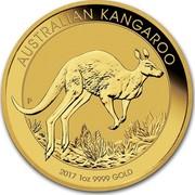 Australia 100 Dollars Australian Kangaroo 2017 AUSTRALIAN KANGAROO 2017 1 OZ 9999 GOLD P JM coin reverse
