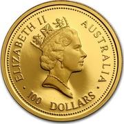 Australia 100 Dollars Australian Nugget 1998 ELIZABETH II AUSTRALIA 100 DOLLARS RDM coin obverse