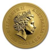Australia 100 Dollars Australian Nugget 2001 ELIZABETH II AUSTRALIA 100 DOLLARS IRB coin obverse