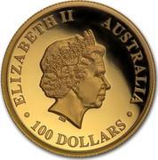 Australia 100 Dollars Australian Wedge-Tailed Eagle 2016 P KM# 2216 ELIZABETH II AUSTRALIA 100 DOLLARS IRB coin obverse