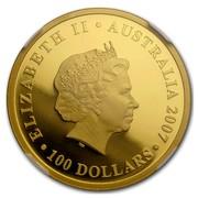 Australia 100 Dollars Diamond Wedding Anniversary 2007 ELIZABETH II AUSTRALIA 2007 100 DOLLARS IRB coin obverse