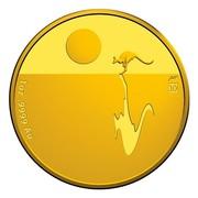 Australia 100 Dollars Kangaroo at Sunset 2017 W 10 1OZ .9999 AU coin reverse
