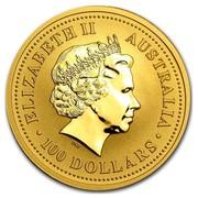 Australia 100 Dollars Kangaroo in the Outback 2005 ELIZABETH II AUSTRALIA 100 DOLLARS IRB coin obverse