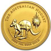 Australia 100 Dollars Kangaroo in the Outback 2005 THE AUSTRALIAN NUGGET 2005 1 OZ. 9999 GOLD coin reverse