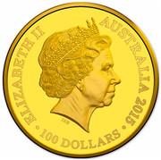 Australia 100 Dollars Longest-Reigning Commonwealth Monarch 2015 KM# 2202 ELIZABETH II AUSTRALIA 2015 100 DOLLARS IRB coin obverse