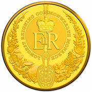 Australia 100 Dollars Longest-Reigning Commonwealth Monarch 2015 KM# 2202 LONGEST REIGNING COMMONWEALTH MONARCH EIIR coin reverse