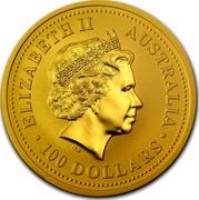 Australia 100 Dollars Lunar Dog 2006 ELIZABETH II AUSTRALIA 100 DOLLARS IRB coin obverse