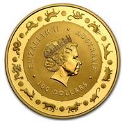 Australia 100 Dollars Lunar Monkey 2016 ELIZABETH II AUSTRALIA 100 DOLLARS IRB coin obverse