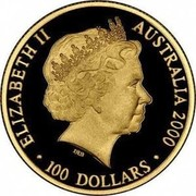 Australia 100 Dollars Medal 2000 ELIZABETH II AUSTRALIA 2000 100 DOLLARS coin obverse