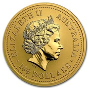 Australia 100 Dollars Nugget 2003 ELIZABETH II AUSTRALIA 100 DOLLARS coin obverse