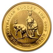 Australia 100 Dollars Nuggets 1998 THE AUSTRALIAN NUGGET 1 OZ. 9999 GOLD 1998 coin reverse