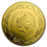Australia 100 Dollars RAM Kangaroo 2016 ELIZABETH II AUSTRALIA IRB 100 DOLLARS coin obverse