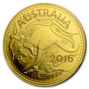 Australia 100 Dollars RAM Kangaroo 2016 AUSTRALIA YEAR 1 OZ .9999 AU coin reverse