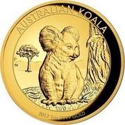 Australia 100 Dollars Resting Koala 2017 AUSTRALIAN KOALA 2017 1 OZ 9999 GOLD P TV coin reverse
