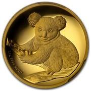 Australia 100 Dollars Sitting Koala 2009 KM# 1115 1 OZ 9999 GOLD P coin reverse