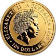 Australia 100 Dollars Swan 2017 ELIZABETH II AUSTRALIA 2017 100 DOLLARS IRB coin obverse