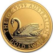 Australia 100 Dollars Swan 2017 THE 1 OZ 9999 AUSTRALIAN GOLD SWAN P NM coin reverse