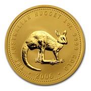 Australia 100 Dollars The Australian Nugget 2006 THE AUSTRALIAN HUGGET 1 OZ. 9999 GOLD 2006 coin reverse