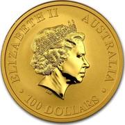 Australia 100 Dollars The Kangaroo 2015 ELIZABETH II AUSTRALIA 100 DOLLARS IRB coin obverse
