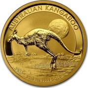 Australia 100 Dollars The Kangaroo 2015 AUSTRALIAN KANGAROO 2015 1 OZ 9999 GOLD P coin reverse