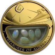Australia 100 Dollars Treasures of Australia - Opals 2008 TREASURES OF AUSTRALIA JG coin reverse