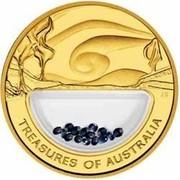 Australia 100 Dollars Treasures of Australia - Sapphires 2007 TREASURES OF AUSTRALIA JG coin reverse