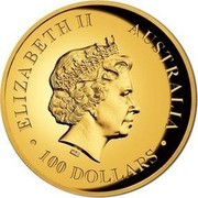 Australia 100 Dollars Walking Koala 2016 ELIZABETH II AUSTRALIA 100 DOLLARS IRB coin obverse