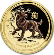 Australia 100 Dollars Year of the Dog (Colorized) 2018 YEAR OF THE DOG P IJ coin reverse