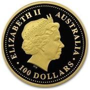 Australia 100 Dollars Year of the Pig 2007 KM# 1906a ELIZABETH II AUSTRALIA 100 DOLLARS IRB coin obverse