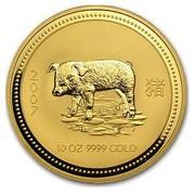 Australia 1000 Dollars Piglet 2007 2007 10 OZ 9999 GOLD coin reverse