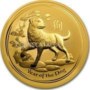 Australia 1000 Dollars Year of the Dog 2018  coin reverse