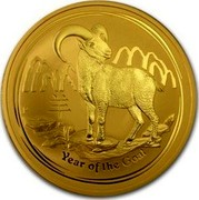 Australia 1000 Dollars Year of the Goat 2015 YEAR OF THE GOAT P NM coin reverse