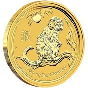 Australia 1000 Dollars Year of the Monkey 2016 YEAR OF THE MONKEY P IJ coin reverse
