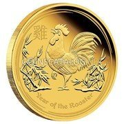 Australia 1000 Dollars Year of the Rooster 2017  YEAR OF THE ROOSTER P coin reverse