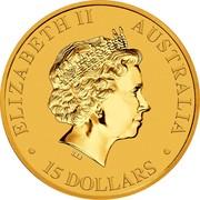 Australia 15 Dollars Australian Kangaroo 2018 ELIZABETH II AUSTRALIA 15 DOLLARS IRB coin obverse