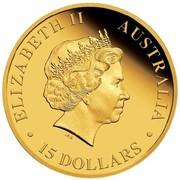 Australia 15 Dollars Australian Koala 2014 ELIZABETH II AUSTRALIA 15 DOLLARS coin obverse